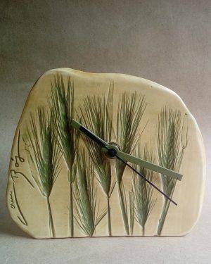 reloj estampado trigo verde