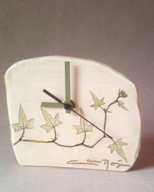 reloj hojas nueza blanca